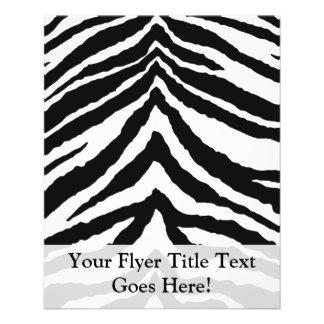 Impresión de la piel de la cebra folleto 11,4 x 14,2 cm
