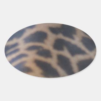 impresión de la piel de la jirafa del masai pegatina ovalada