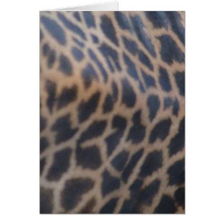 impresión de la piel de la jirafa del masai tarjeta de felicitación