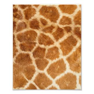 Impresión de la piel de la jirafa foto