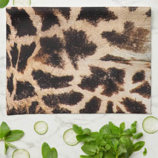 impresión de la piel de la jirafa toalla de mano