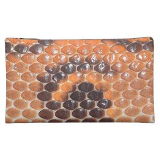 Impresión de la piel de serpiente estuche de maquillaje