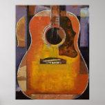 Impresión de la pintura de la guitarra poster