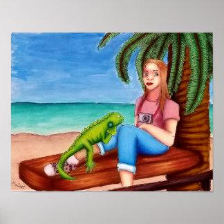 Impresión de la playa del poster de la rotura de