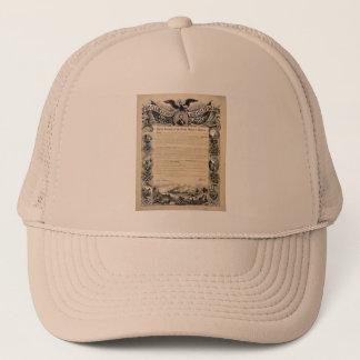 Impresión de la proclamación de la emancipación gorra de camionero