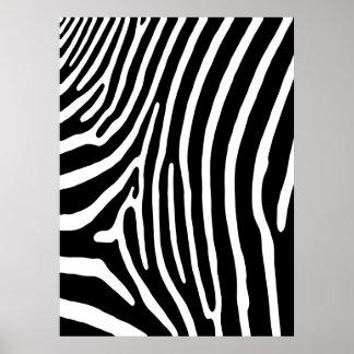 Impresión de la raya de la cebra (negro y blanco)