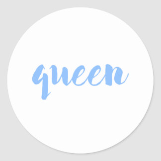 Impresión de la reina pegatina redonda