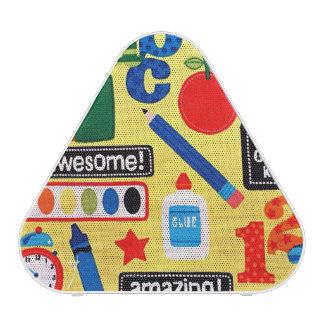 Impresión de la tela de los días escolares altavoz bluetooth