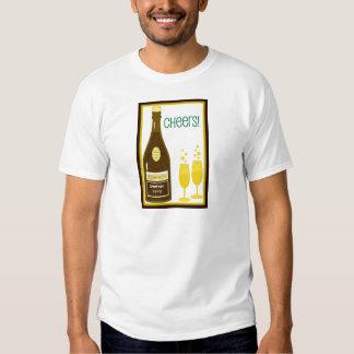 Impresión de la TOSTADA de CHAMPÁN del VINTAGE de Camisetas