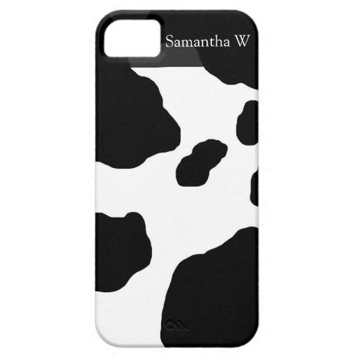 Impresión de la vaca de la diversión personalizada iPhone 5 fundas
