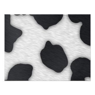 Impresión de la vaca lechera anuncio