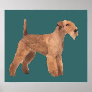 Impresión de Lakeland Terrier Póster