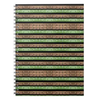 Impresión de las rayas de Camo Cuaderno