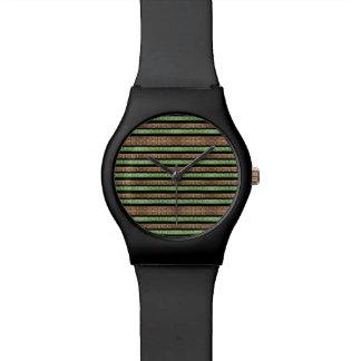 Impresión de las rayas de Camo Reloj De Pulsera