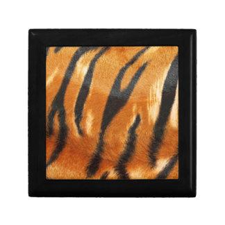 Impresión de las rayas del tigre del safari cajas de joyas