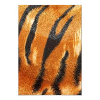 Impresión de las rayas del tigre del safari invitación 8,9 x 12,7 cm