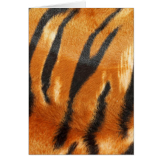 Impresión de las rayas del tigre del safari tarjeton