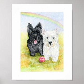 Impresión de los amigos de Terrier