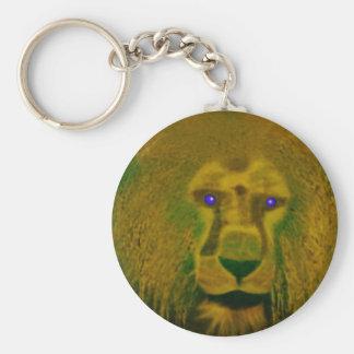Impresión de los leones llavero redondo tipo chapa