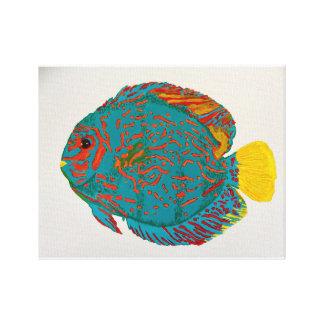 Impresión de los pescados del disco