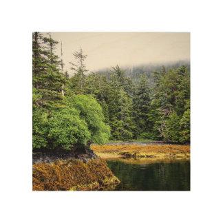 Impresión de madera de las visiónes verdes