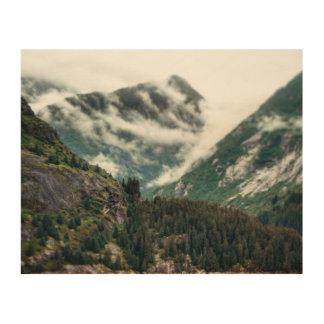 Impresión de madera de los tops de niebla de la