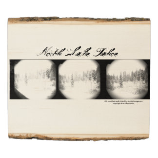 Impresión de madera - pinos Nevado Tahoe