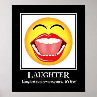 Impresión de motivación del poster de la risa póster