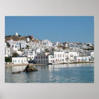 Impresión de Mykonos Grecia Impresiones