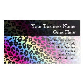 Impresión de neón del modelo del leopardo del arco tarjetas de visita