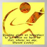 Impresión de oro de la cita del lector impresiones