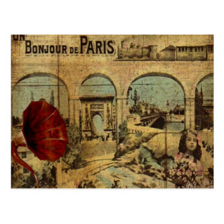 Impresión de París del vintage Postal