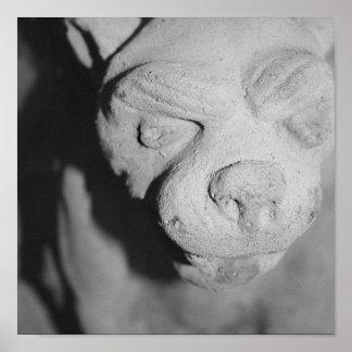Impresión de piedra del Gargoyle