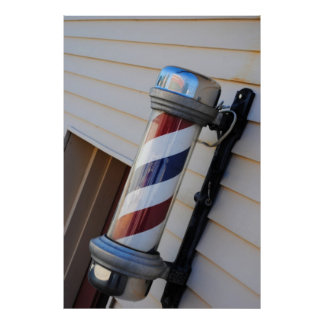 Impresión de poste de la peluquería de caballeros póster