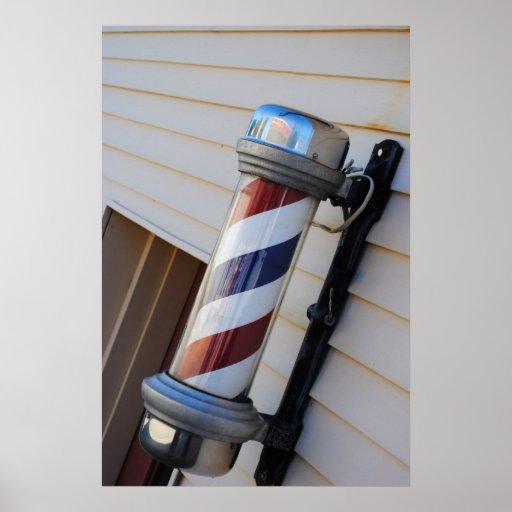 Impresión de poste de la peluquería de caballeros poster