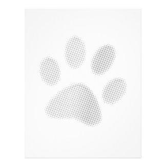Impresión de semitono blanca gris clara de la pata tarjetas publicitarias