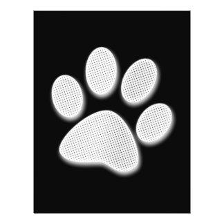 Impresión de semitono blanca/gris clara de la pata folleto 21,6 x 28 cm