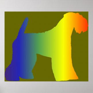 Impresión de Terrier de azul de Kerry Póster
