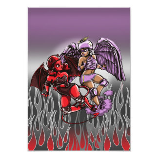Impresión del arte de Derby del rodillo del diablo Impresión Fotográfica
