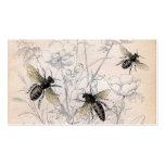 Impresión del arte de la abeja de la miel del vint tarjeta de visita