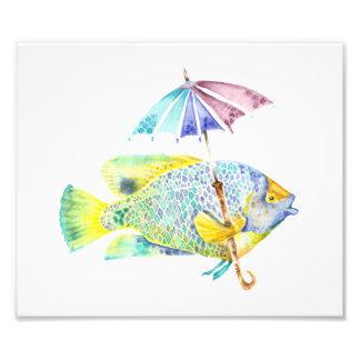 Impresión del arte de la foto de los pescados del