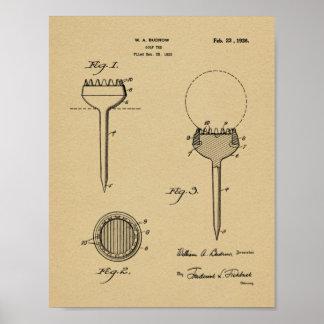 Impresión del arte de la patente de diseño de la