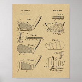 Impresión del arte de la patente de diseño de los