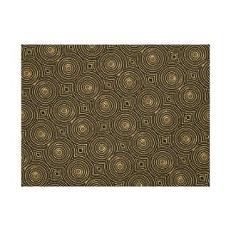 Impresión del arte de los círculos del oro