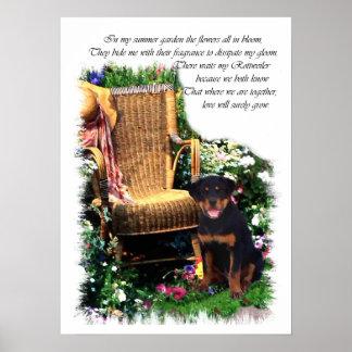 Impresión del arte de Rottweiler