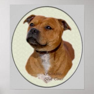 Impresión del arte de Staffordshire bull terrier