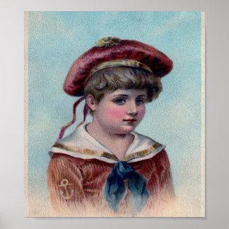 Impresión del arte del muchacho de marinero del Vi Póster