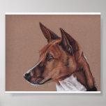 Impresión del arte del perro de Basenji