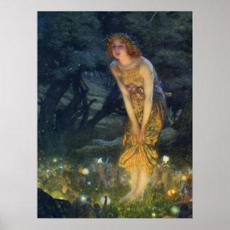Impresión del arte del Pre-Raphaelite de Eve de pl