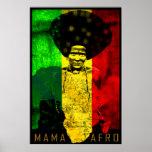 Impresión del arte del reggae del mapa de mamá Afr Impresiones